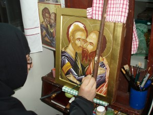 Сетра рисува Св. Апостоли Петър и Павел