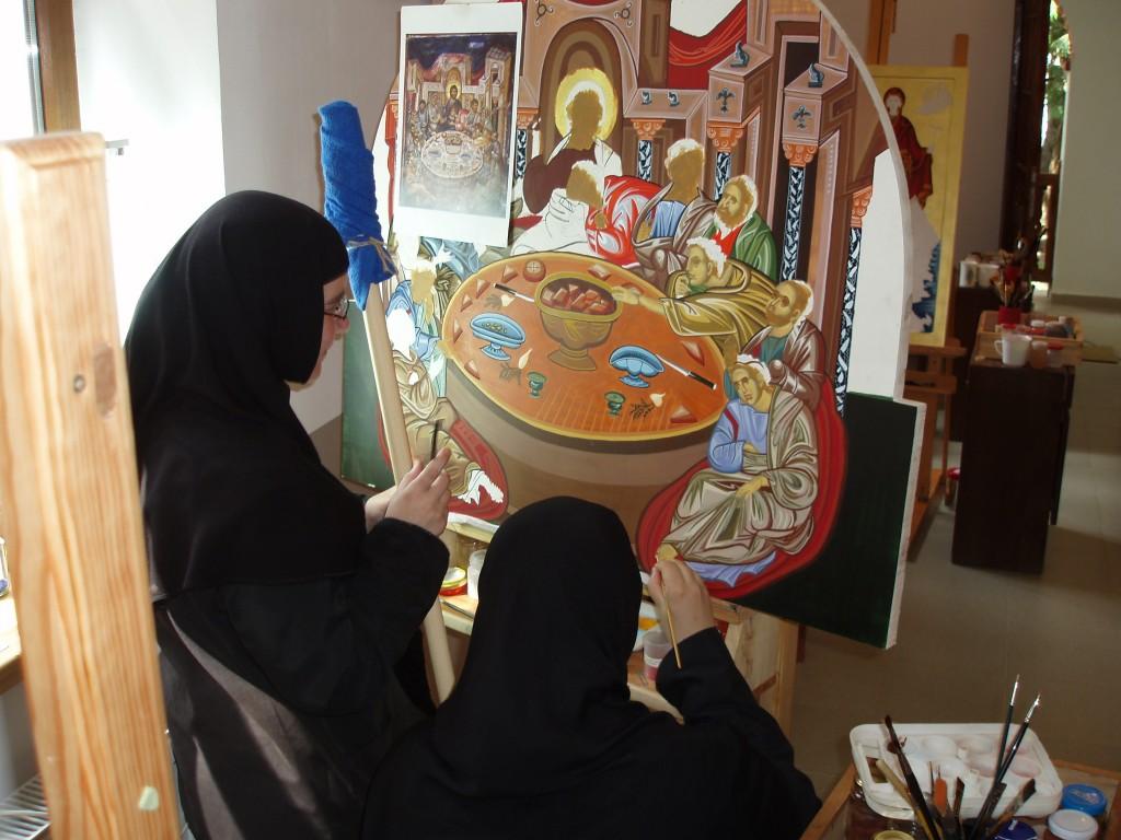 Сестрите рисуват Тайната Вечеря