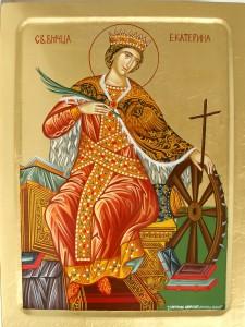 Света Великомъченица Екатерина - рисувана от сестрите