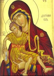 Св. Богородица - Достойно ест рисувана в Клисурски манастир