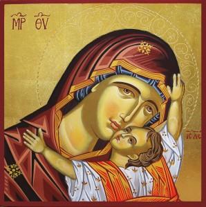 Икона на Св. Богородица рисувана от сестрите